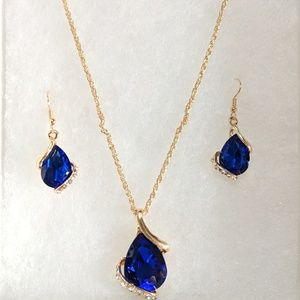 NEW Handpicked Necklace Earrings| Royal Blue Stone